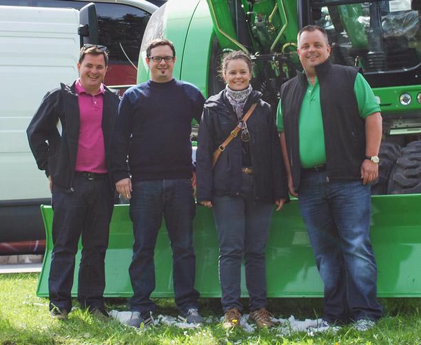 Die Gründer der Christen Holding AG: Stefan Christen, Adrian Christen, Angela Hess-Christen und Martin Christen.