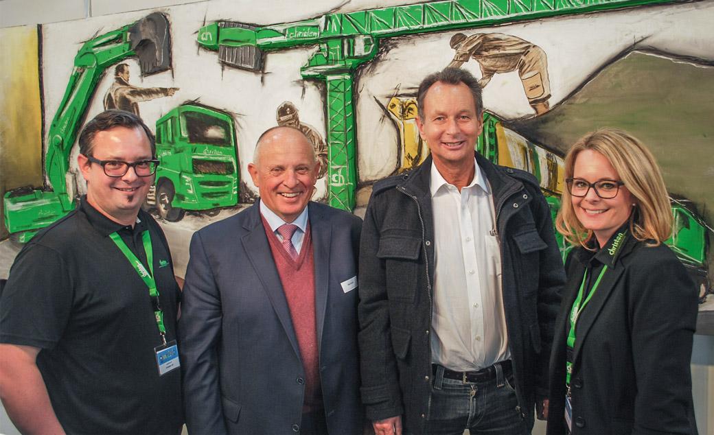 Adrian Christen, Alois Christen, Philipp Müller (Präsident FDP Schweiz), Angela Hess-Christen.